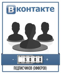 Привлечение 5000 подписчиков ВКонтакте