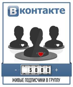 Привлечение 5000 живых подписчиков в группу ВКонтакте