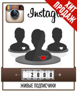 2000 Живых подписчиков в Инстаграм - Не накрутка!