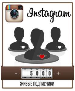 5000 живых подписчиков в Instagram